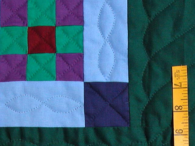 King Amish Nine Patch Quilt Photo 5