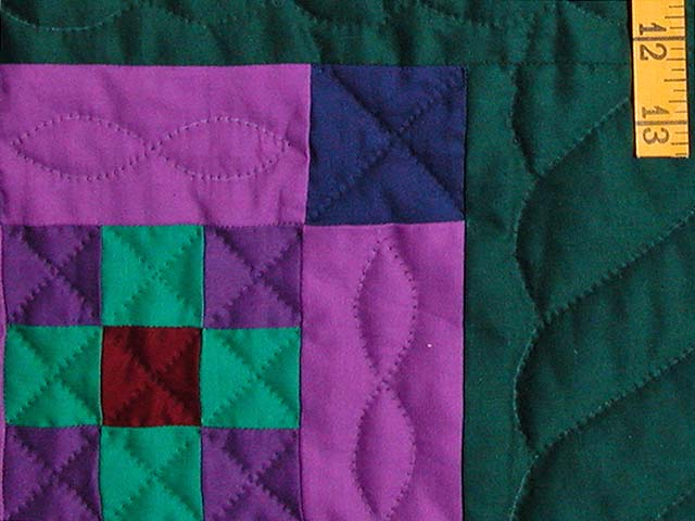 King Amish Nine Patch Quilt Photo 6
