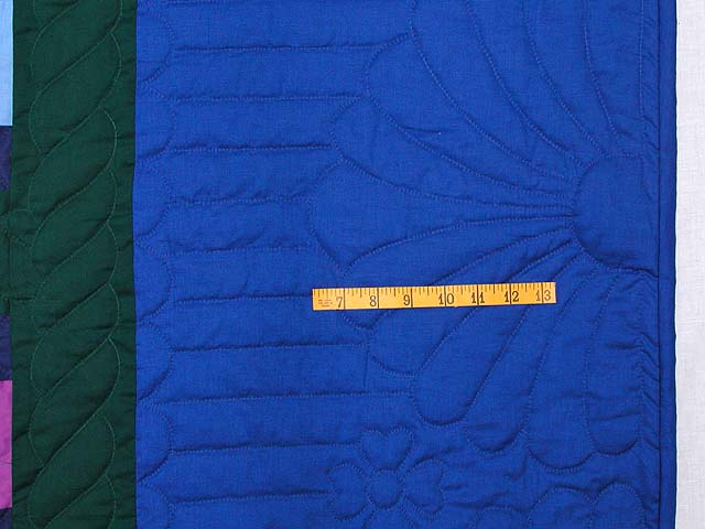 King Amish Nine Patch Quilt Photo 7