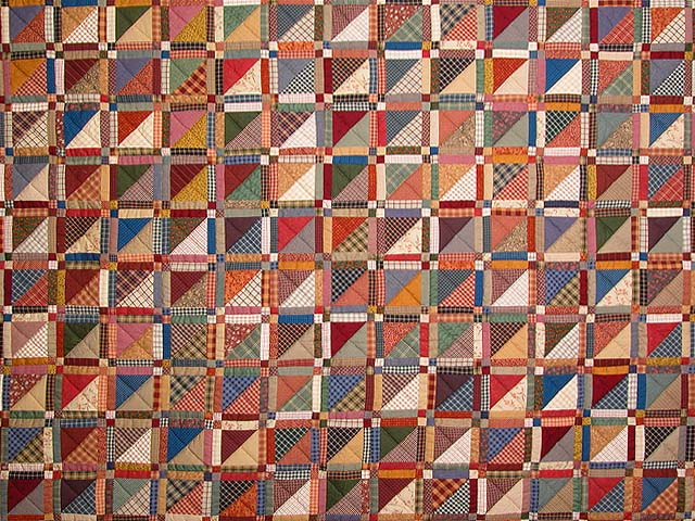 King Earth Colors Homespun Squares Quilt Photo 3