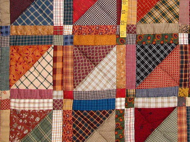 King Earth Colors Homespun Squares Quilt Photo 6