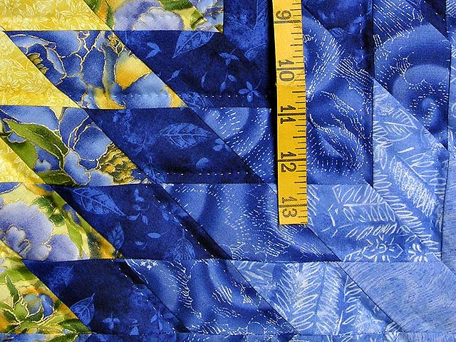Blue and Yellow Compass Star Quilt Photo 6