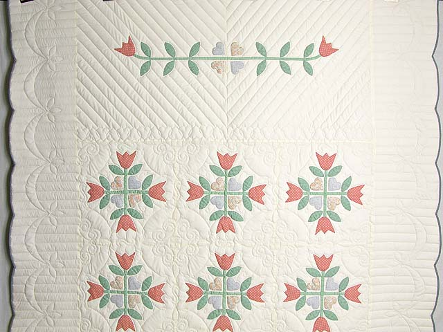 Pastel Country Tulip Album Quilt Photo 2