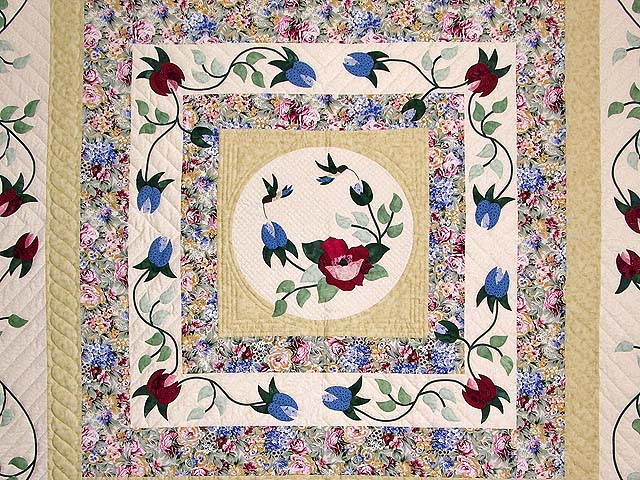 King Rose Cream and Tan I Promised You a Rose Garden Quilt Photo 3