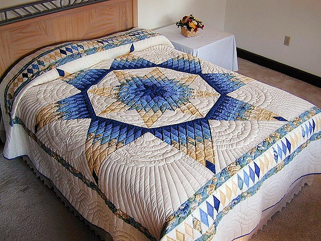 Blue and Yellow Alabama Star Quilt Photo 1
