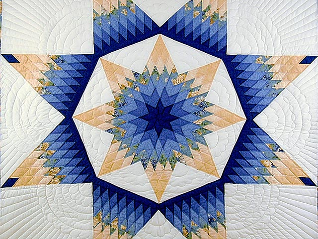 Blue and Yellow Alabama Star Quilt Photo 3