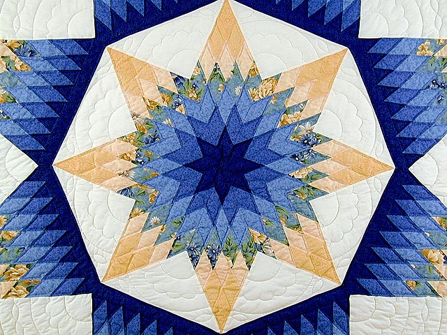 Blue and Yellow Alabama Star Quilt Photo 4