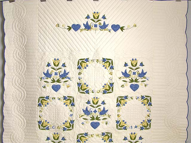 Blue and Yellow Love Dove Album Quilt Photo 2