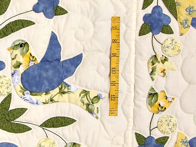 Blue and Yellow Love Dove Album Quilt Photo 5