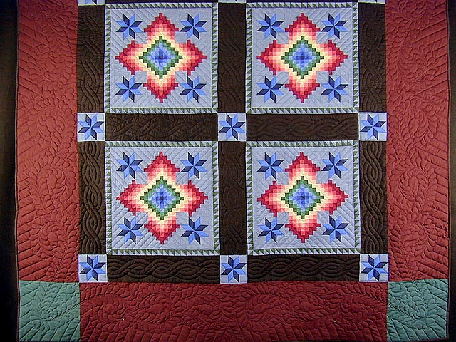 KING Amish Colors Grannys Favorite Quilt Photo 3
