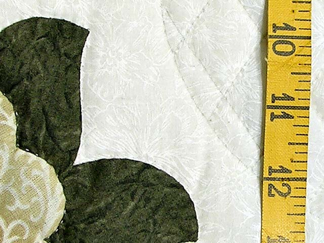 Soft Green Tan and Neutrals Heart of Roses Quilt Photo 6