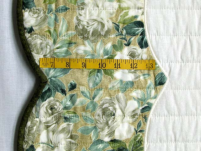 Soft Green Tan and Neutrals Heart of Roses Quilt Photo 7