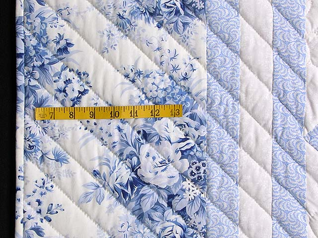 Pastel Blue and Ivory Nine Patch Quilt Photo 6
