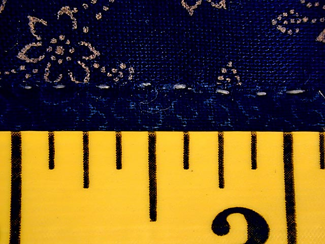 Blue and Yellow Diamond Star Fan Quilt Photo 8