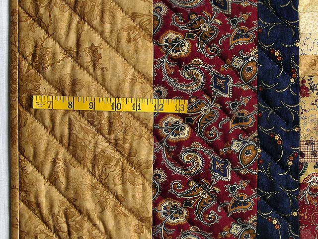 King Wheat Burgundy Navy & Green Postage Stamp Quilt Photo 7