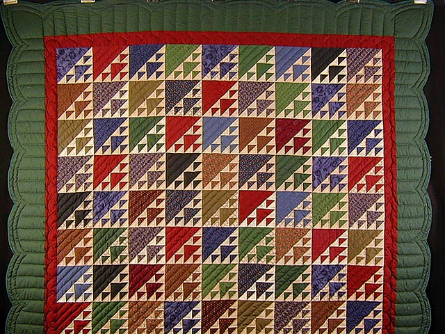 Green And Multicolor Birds In The Air Quilt Photo 2