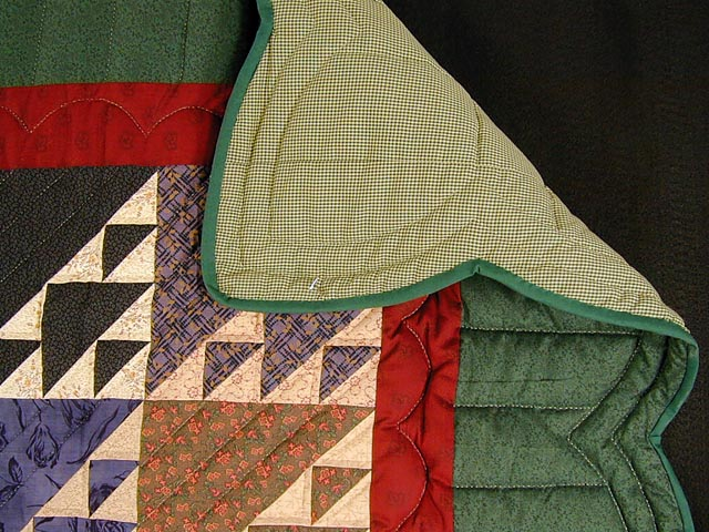 Green and Multicolor Birds in the Air Quilt Photo 6