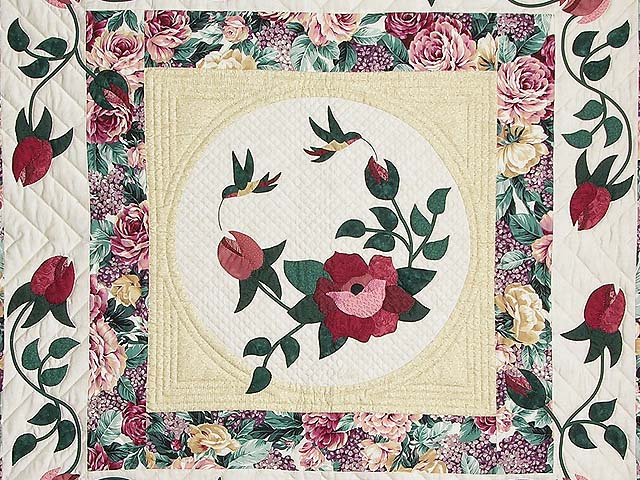 King I Promised You a Rose Garden Quilt Photo 4