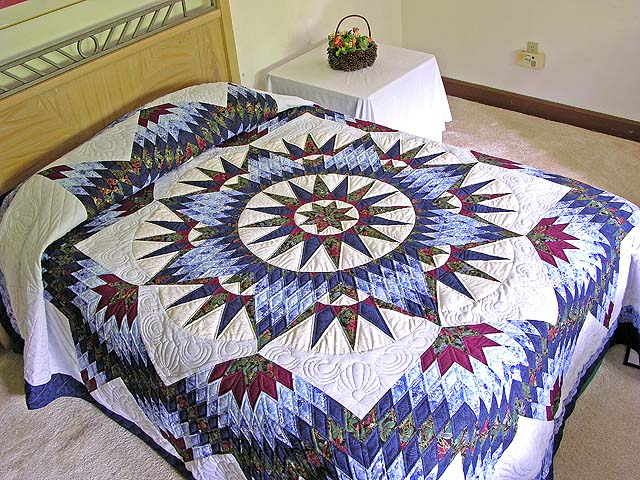 Mariners Star Quilt -- splendid made with care Amish Quilts from ... : quilts amish - Adamdwight.com