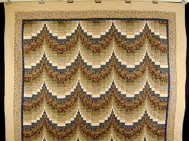 Egyptian Colors Bargello Quilt Photo 2