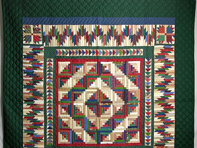 Green and Multicolor Bear Mountain Quilt Photo 2