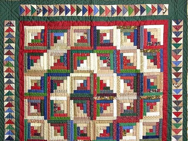 Green and Multicolor Bear Mountain Quilt Photo 3