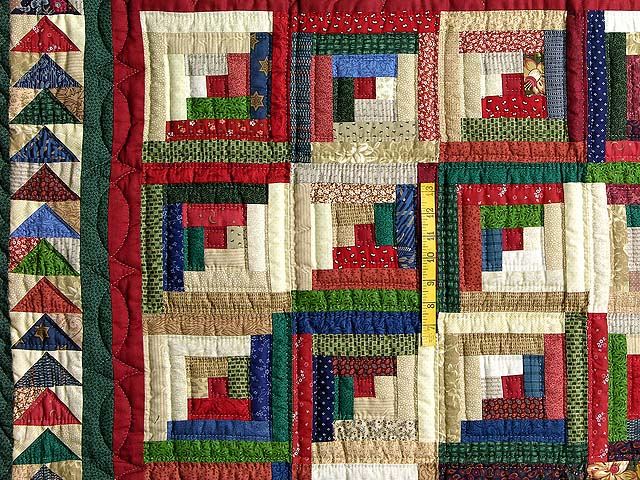 Green and Multicolor Bear Mountain Quilt Photo 4