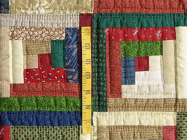 Green and Multicolor Bear Mountain Quilt Photo 5