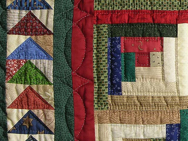 Green and Multicolor Bear Mountain Quilt Photo 6