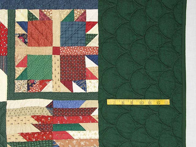 Green and Multicolor Bear Mountain Quilt Photo 7
