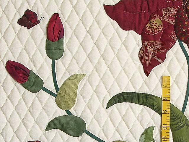 Burgundy and Gold Petal Showcase Quilt Photo 5