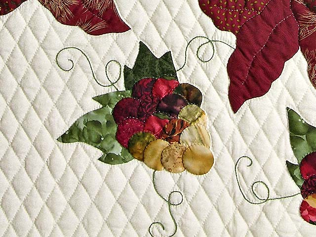 Burgundy and Gold Petal Showcase Quilt Photo 6