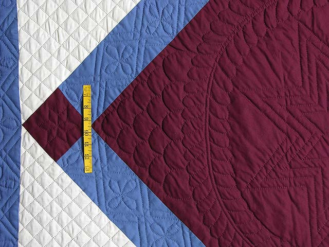 Amish Bright Center Diamond Quilt Photo 4