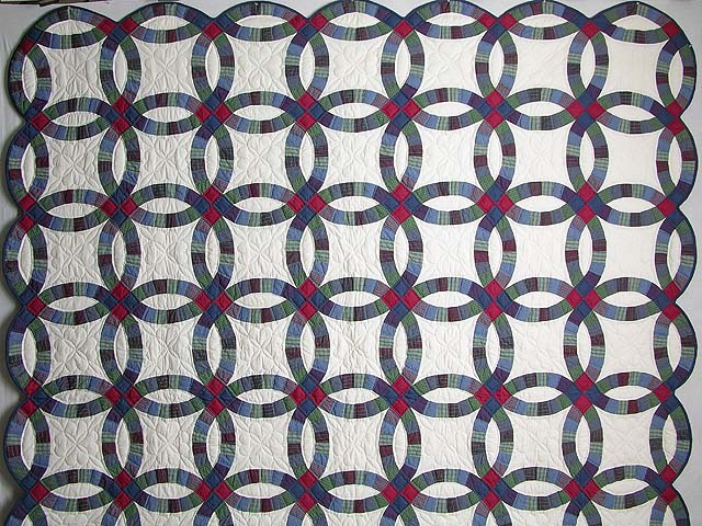 Plaids Double Wedding Quilt Photo 2