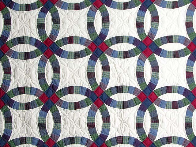 Plaids Double Wedding Quilt Photo 3