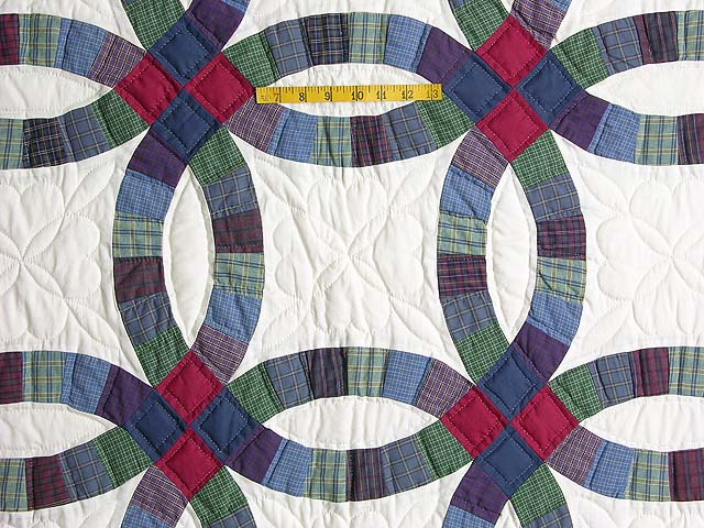Plaids Double Wedding Quilt Photo 4