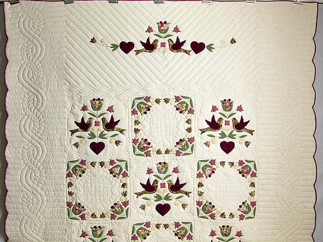 Rose and Sage Love Dove Quilt Photo 2