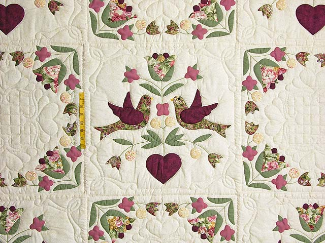 Rose and Sage Love Dove Quilt Photo 4