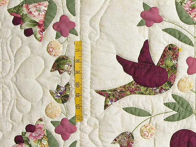 Rose and Sage Love Dove Quilt Photo 5