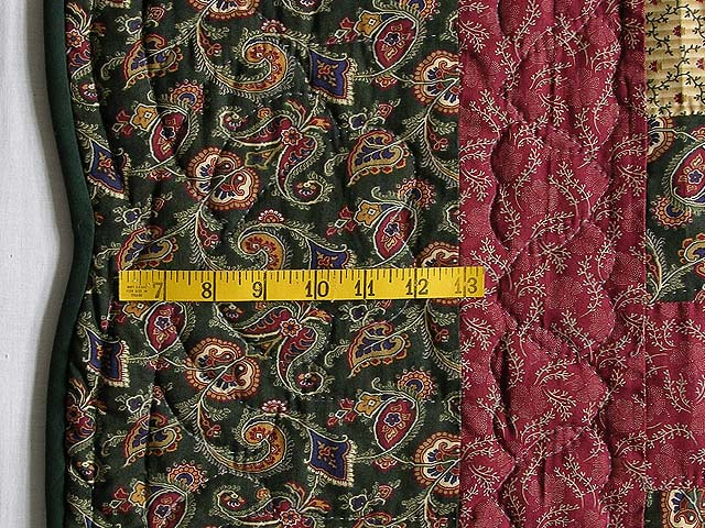 Dark Green Burgundy and Tan Ocean Wave Quilt Photo 6