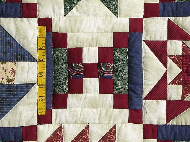 Navy Green and Burgundy Courthouse Sampler Quilt Photo 6