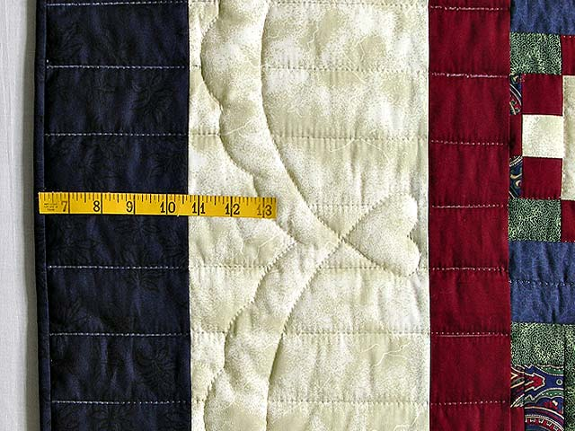 Navy Green and Burgundy Courthouse Sampler Quilt Photo 7