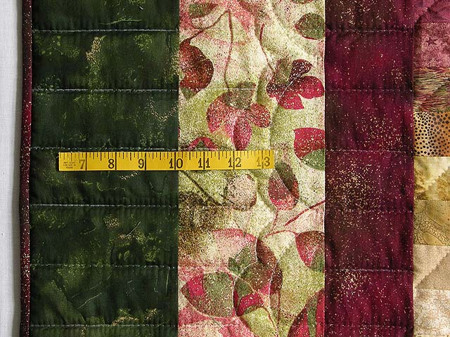 King Burgundy Green and Gold Color Splash Quilt Photo 7