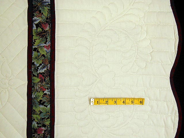 Burgundy Green and Blue Fine Lone Star Quilt Photo 7