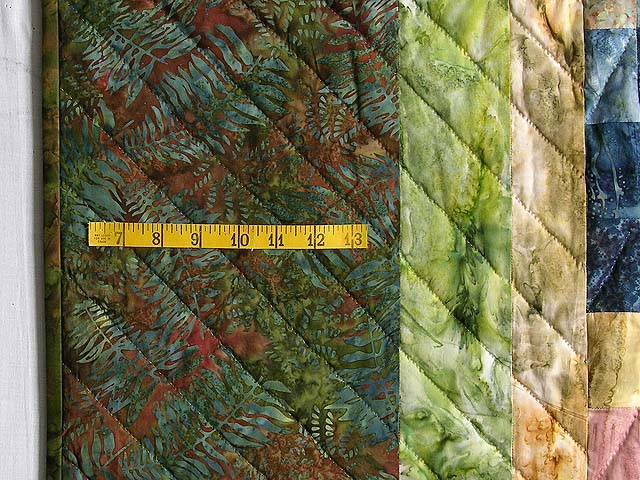 Hand Painted Diamond Bargello Quilt Photo 7
