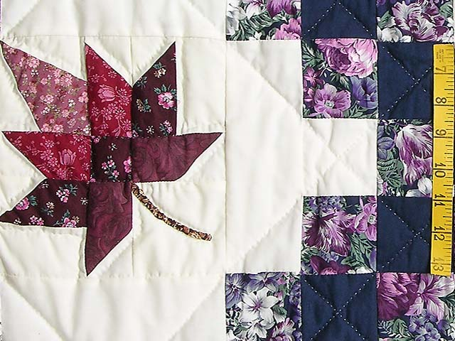 Navy Purple and Multicolor Autumn Splendor Irish Chain Quilt Photo 5