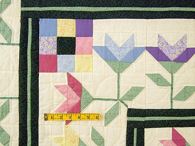 Pastel Lily Patchwork Quilt Photo 4