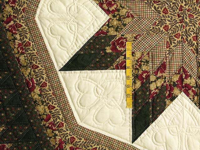 King Moss Burgundy and Tan Royal Star of Maryland Quilt Photo 5