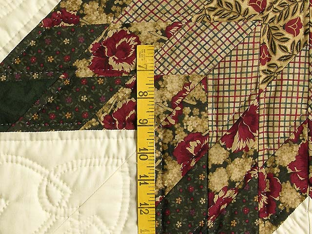 King Moss Burgundy and Tan Royal Star of Maryland Quilt Photo 6