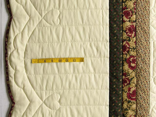 King Moss Burgundy and Tan Royal Star of Maryland Quilt Photo 7